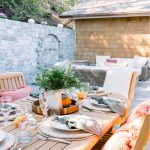 Outdoor Patio Space Decorated for Fall