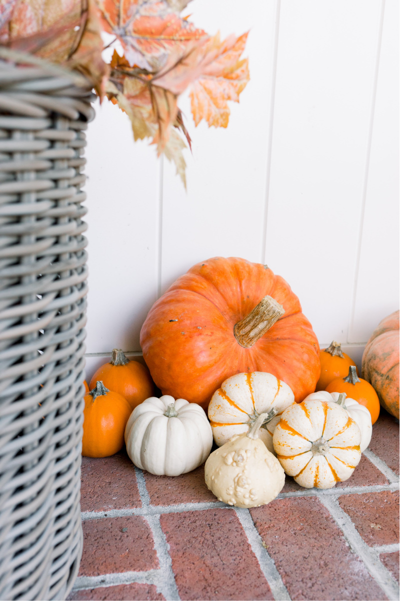 Pumpkin Display on Porch