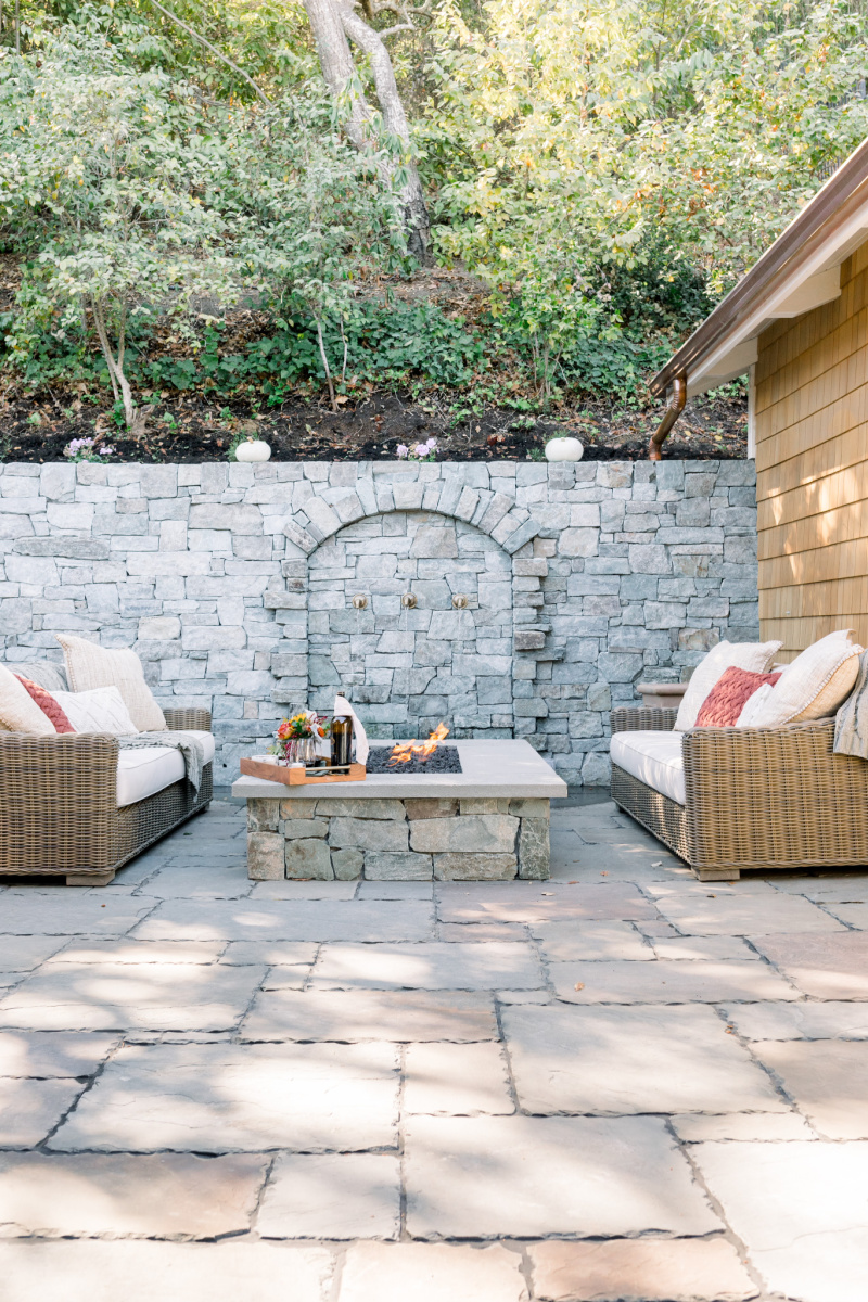 Flag Stone Patio and Firepit