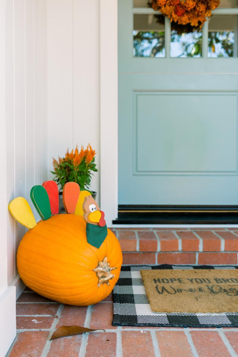 thanksgiving porch decor