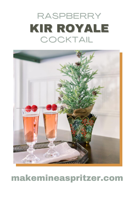 Kir Royal and Christmas Tree Pin