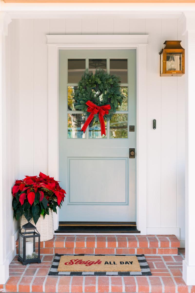Dutch Door with Christmas Wreath