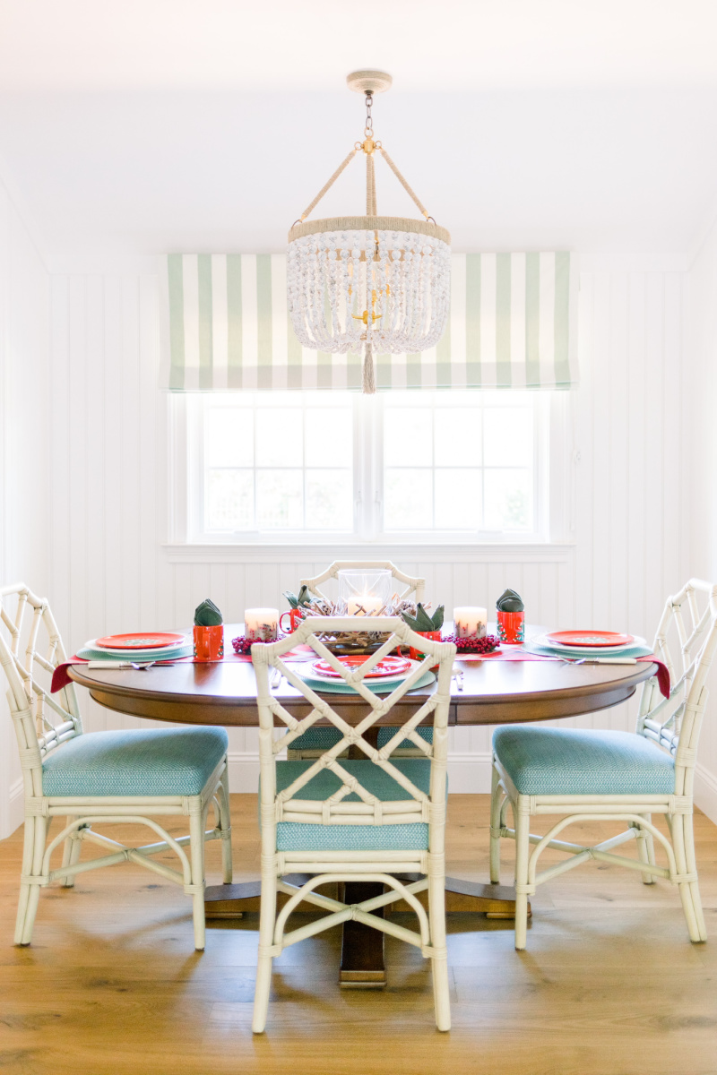 Dining Table and Chandelier
