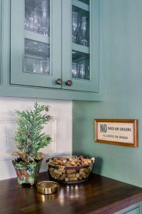 Raspberry Kir Royale and Christmas Tree