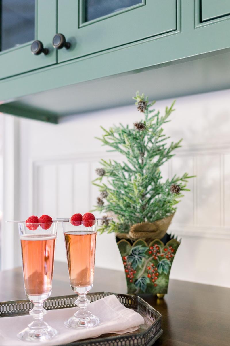 Kir Royale and Christmas Tree
