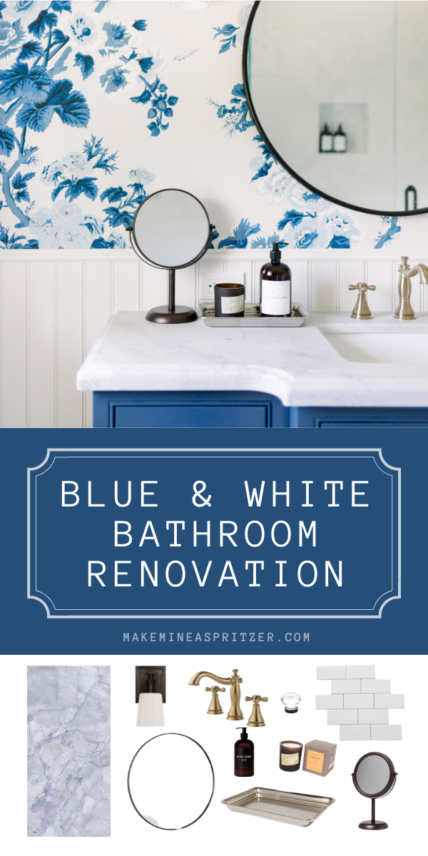 Blue and White Bathroom Pin