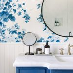 Snowberry's Blue and White Bathroom Reveal