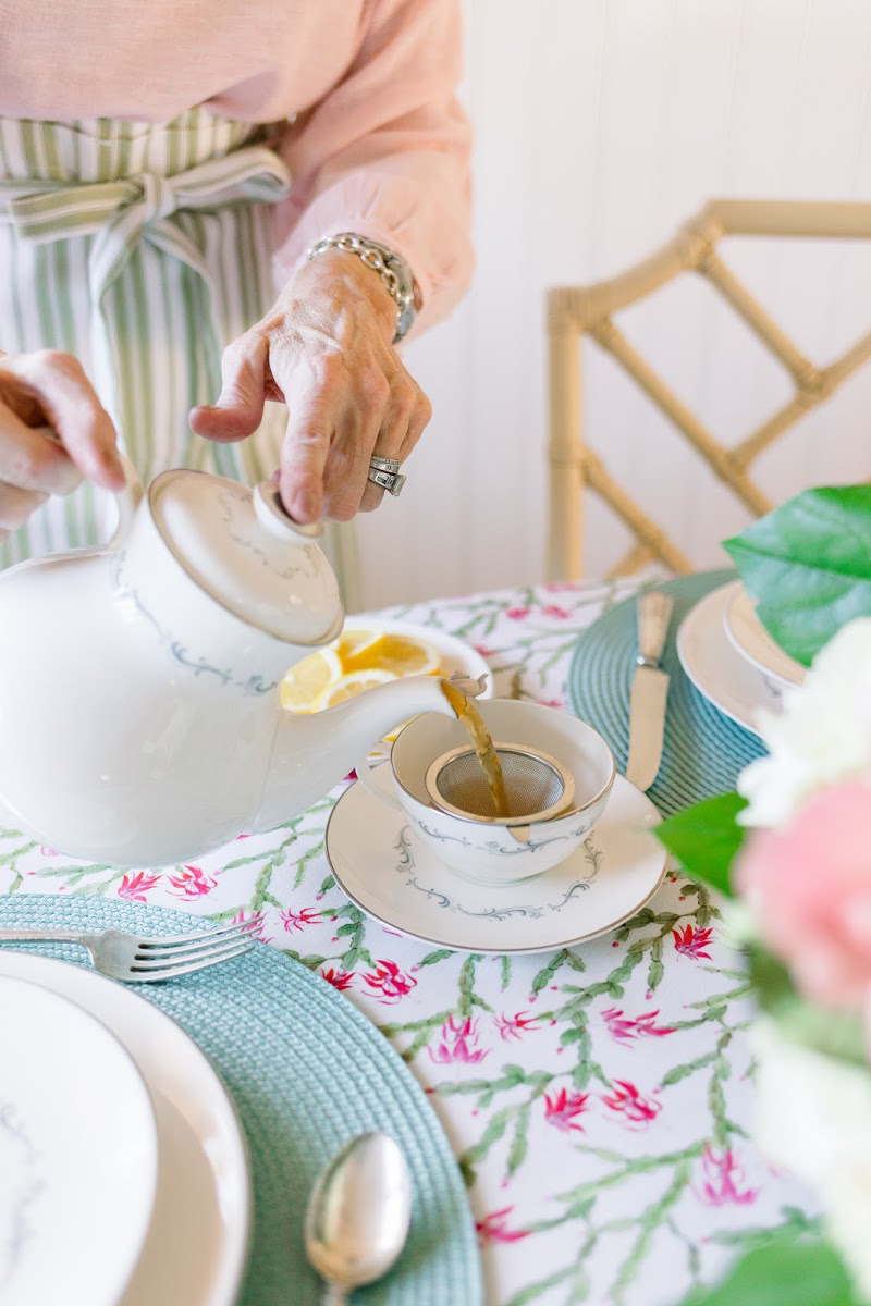 Pouring Tea from Tea Pot