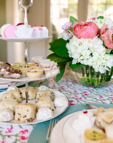 Tea Sandwich Tray and Flowers