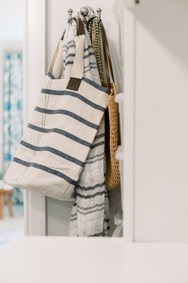 Bags & scarves on hook