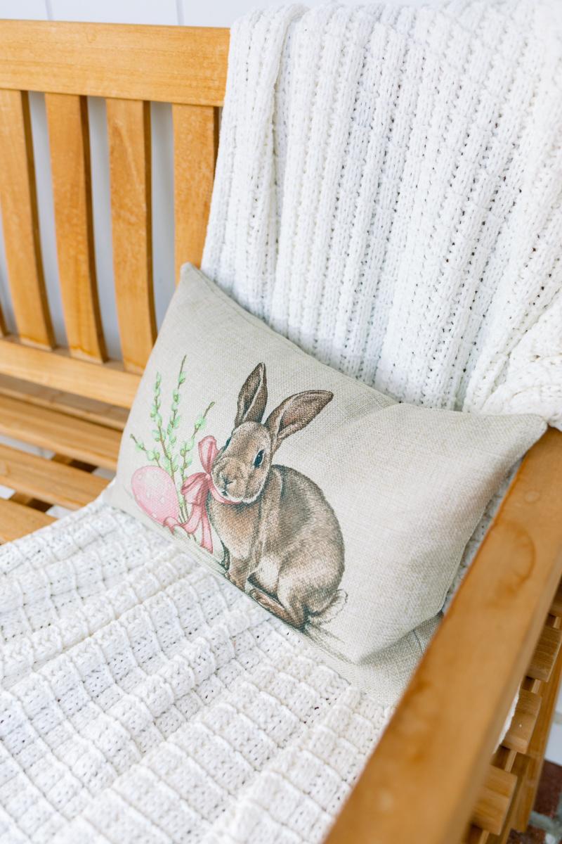 Bunny lumbar pillow
