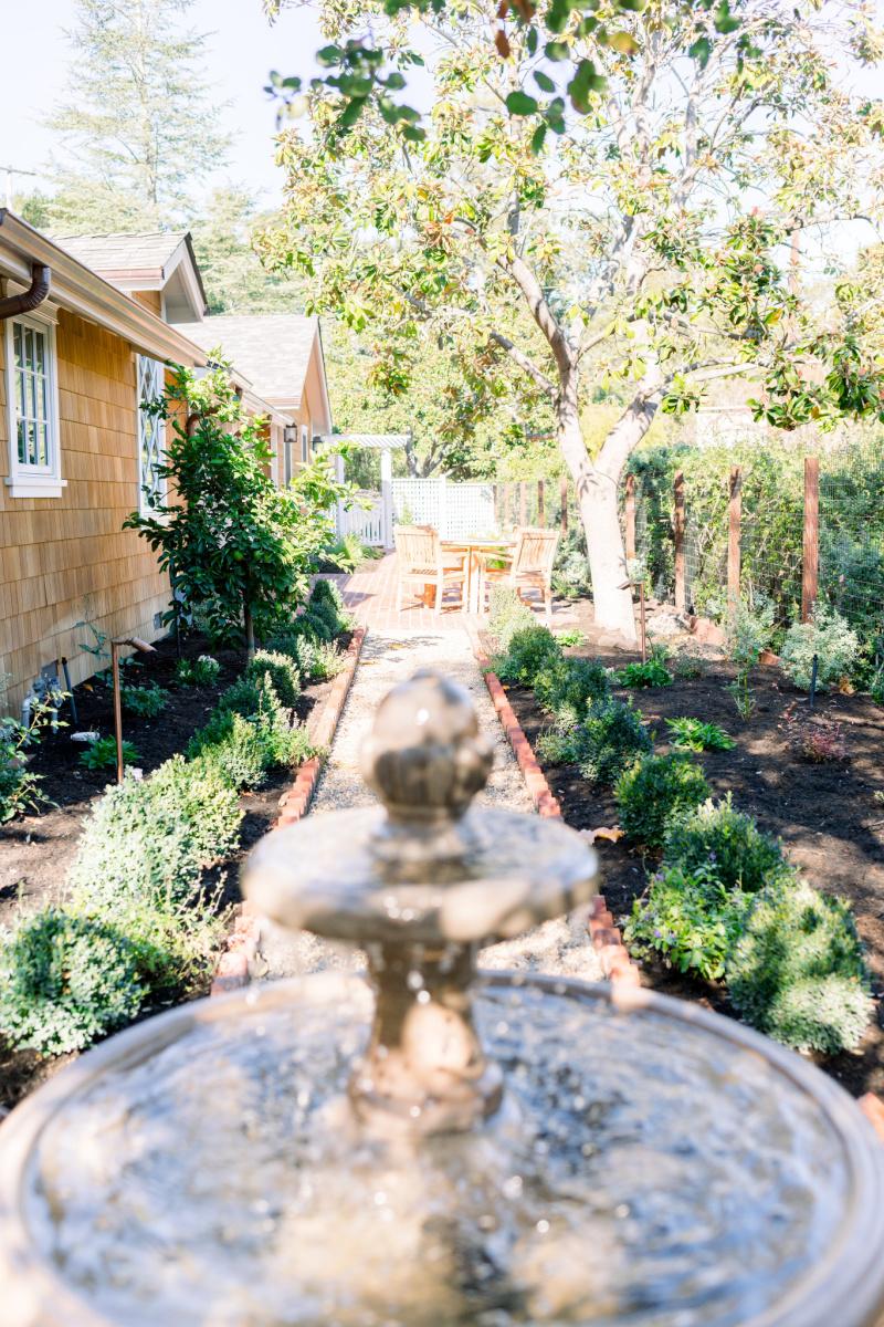 Garden path and fountain