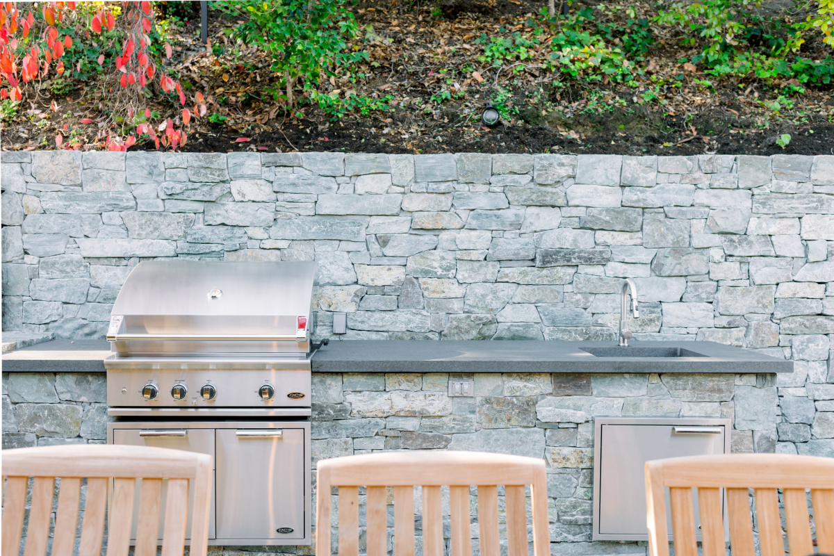 Outdoor kitchen and DCS grill