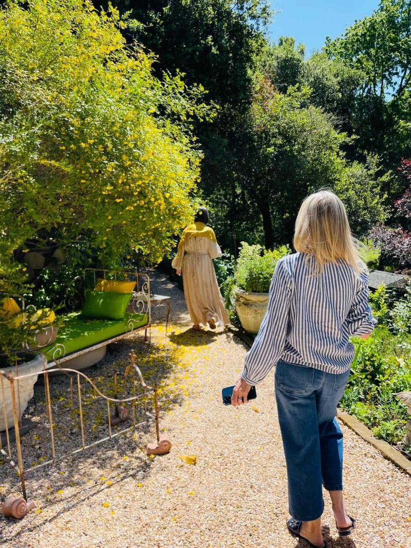 Walking down the garden path