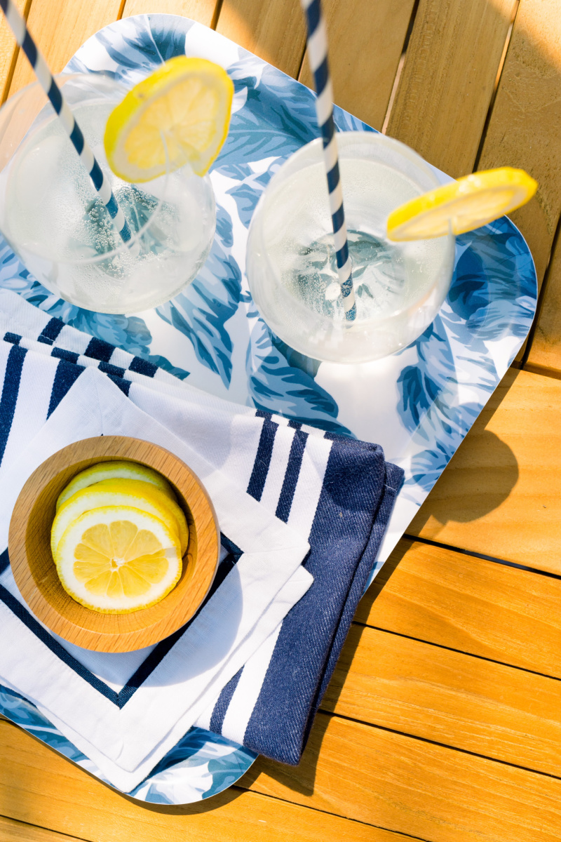 Tray of White Wine Spritzers