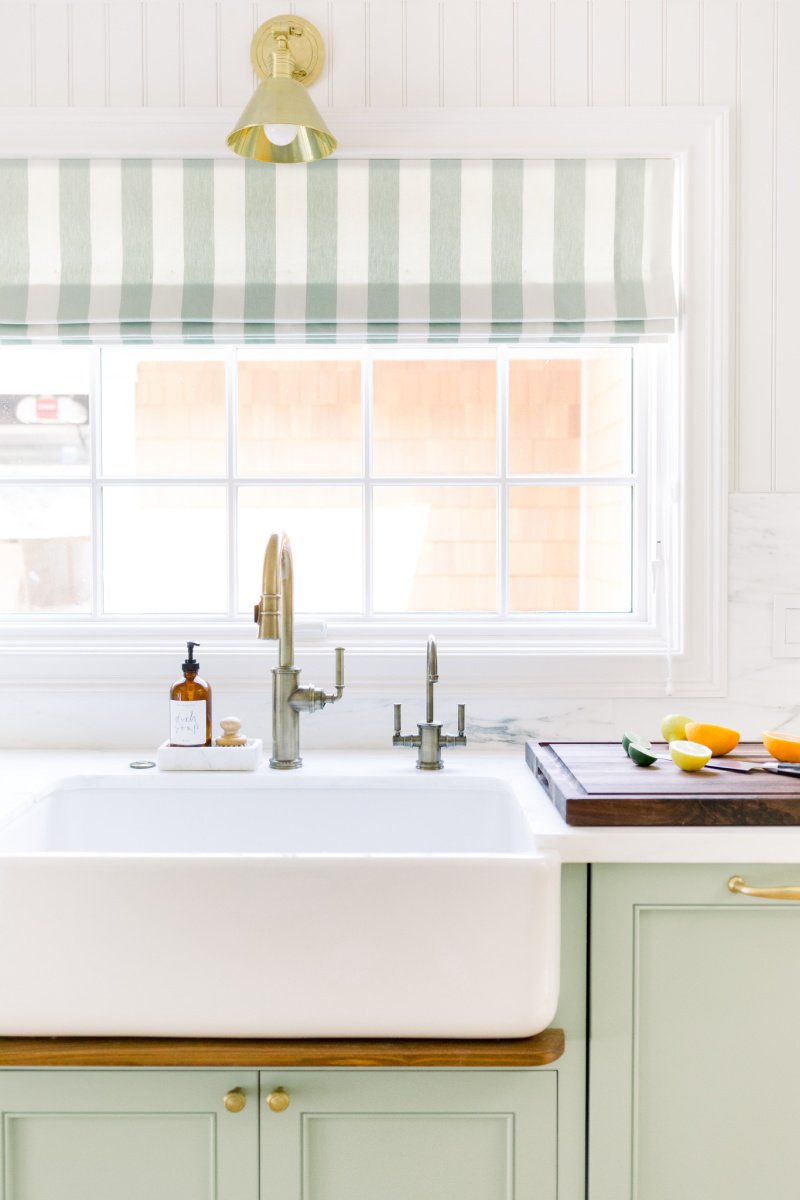 Farm Sink and sliced citrus