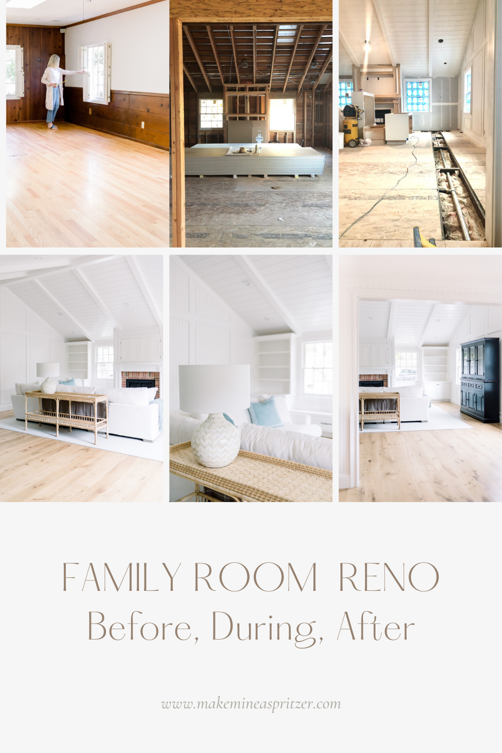 Family Room Renovation Pin Collage