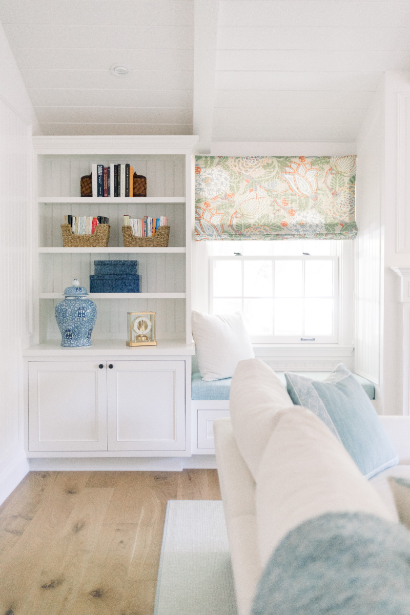 Built in shelves and window seat
