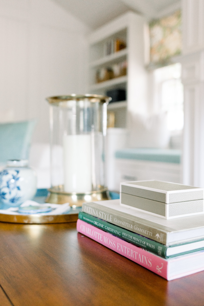 Coffee Table Tray and Books