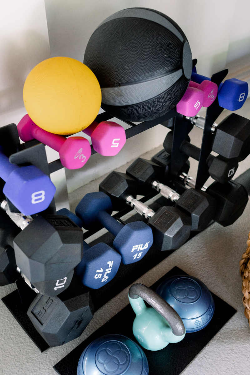 Weight rack and weights