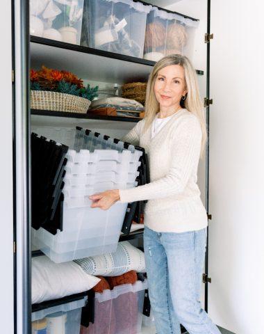 Garage cabinet storage system
