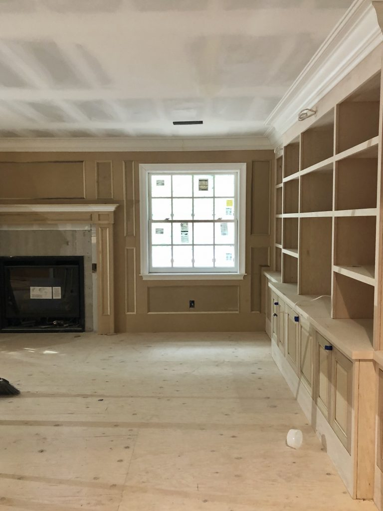 Home library under construction