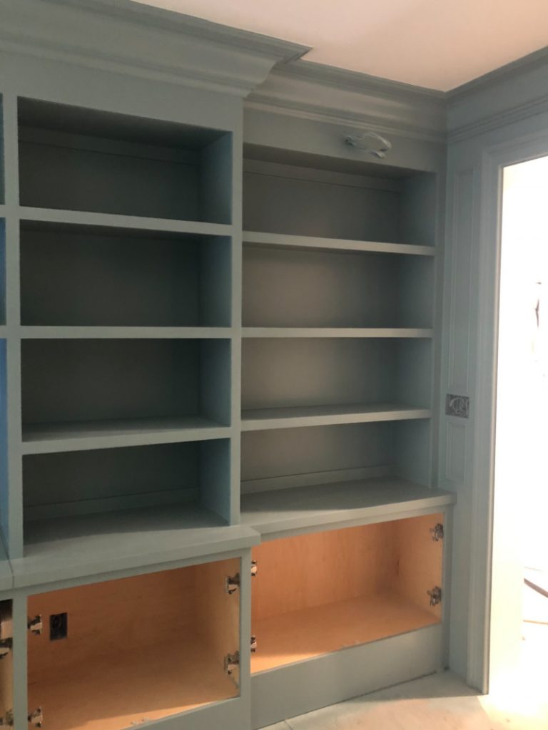 Home Library Shelves Under Construction