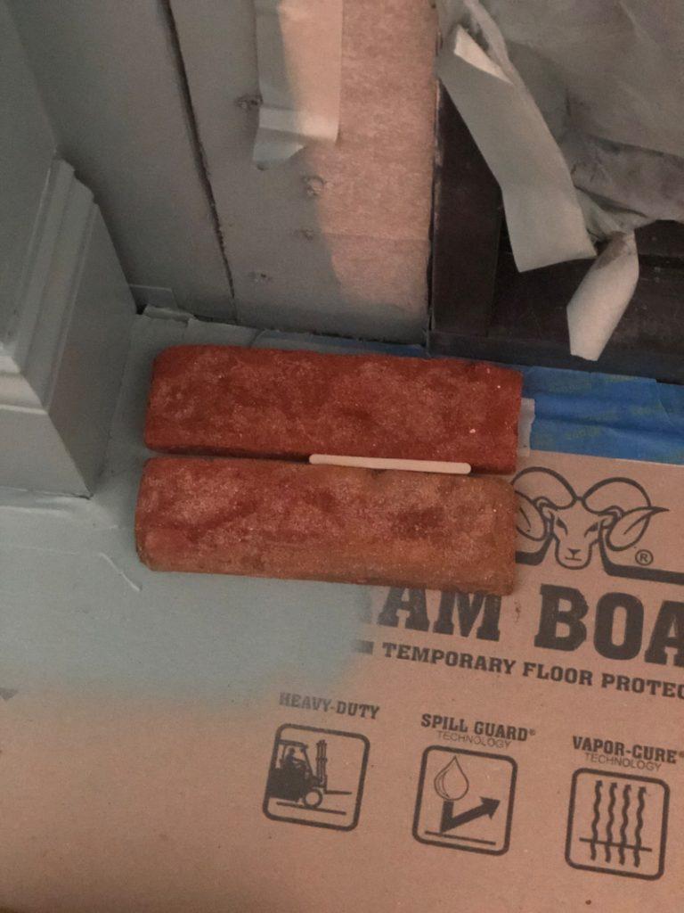 Fireplace brick ready to install