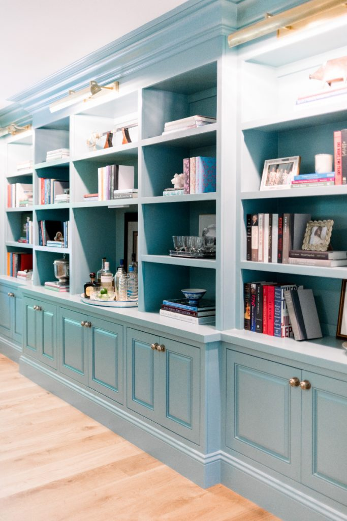 Home Library Styled Shelves