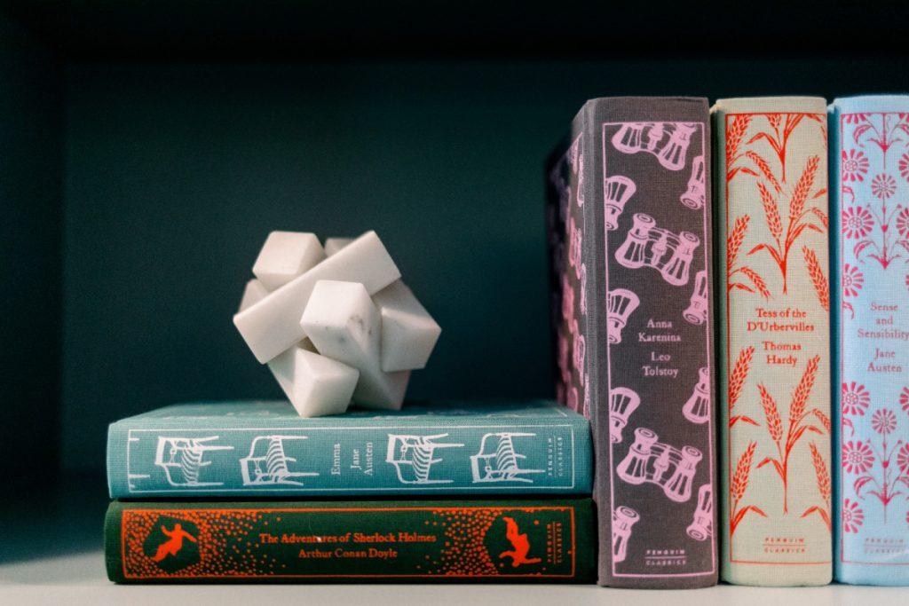 Classic Books on shelf