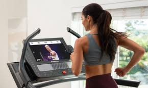 Woman on Nordictrack Treadmill