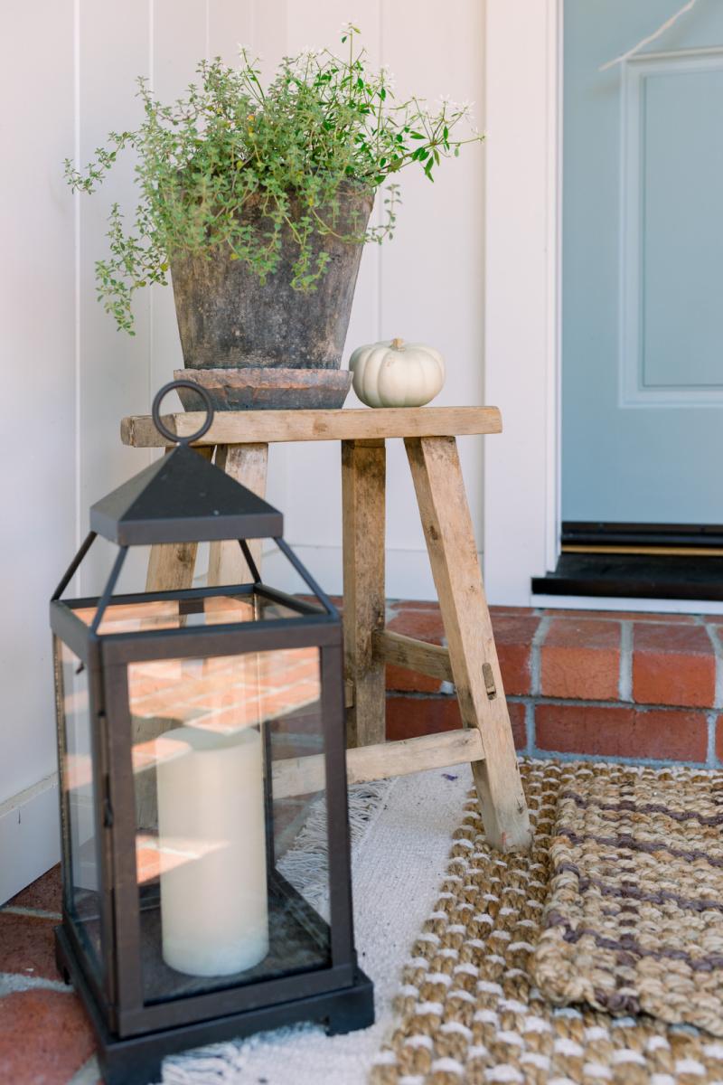 Stool and lantern